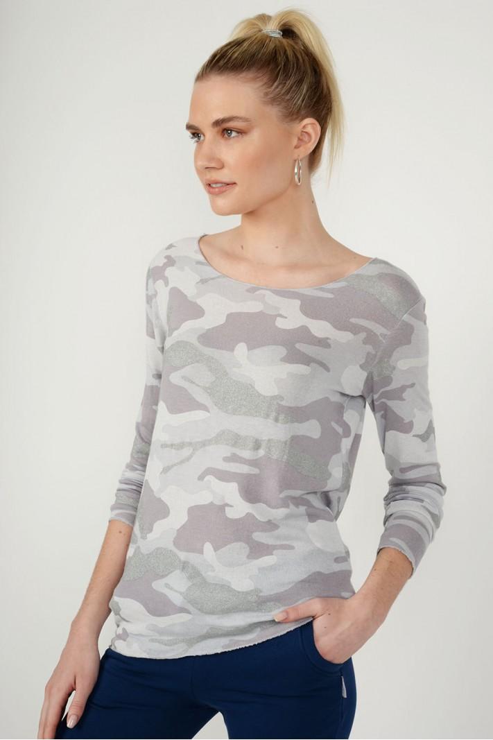 Μπλούζα militaire με μανίκια