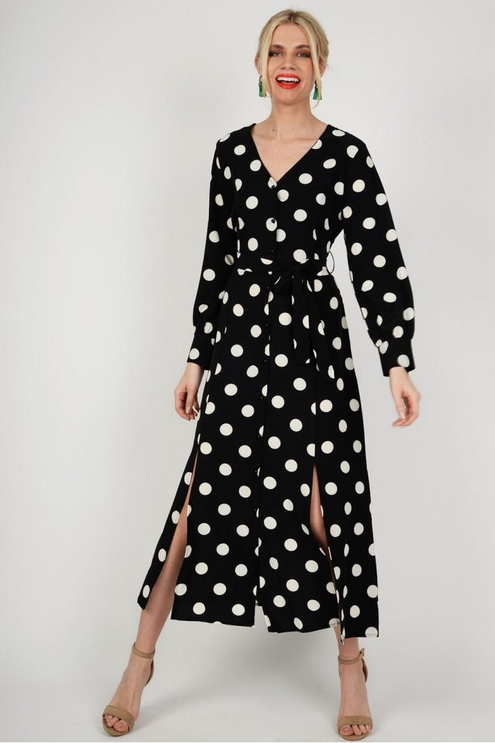 Φόρεμα maxi πουά Limited Edition f159717f6c0