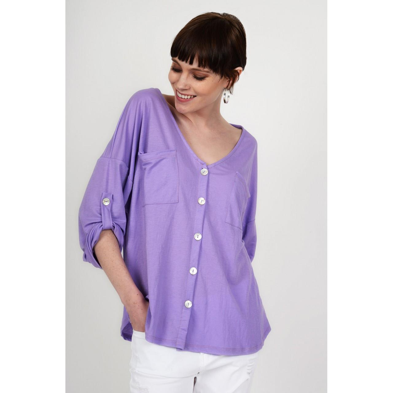 e83606582275 Oversized μπλούζα πουκαμίσα με κουμπιά