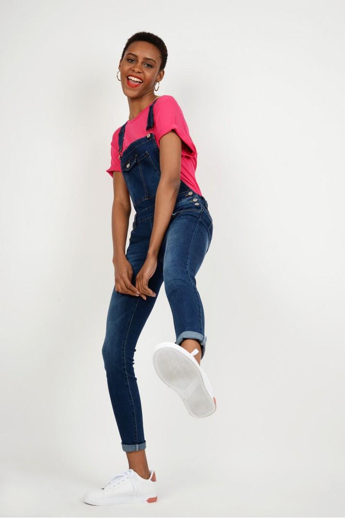 Σαλοπέτα jean ελαστική με τσέπες ec778eac06e