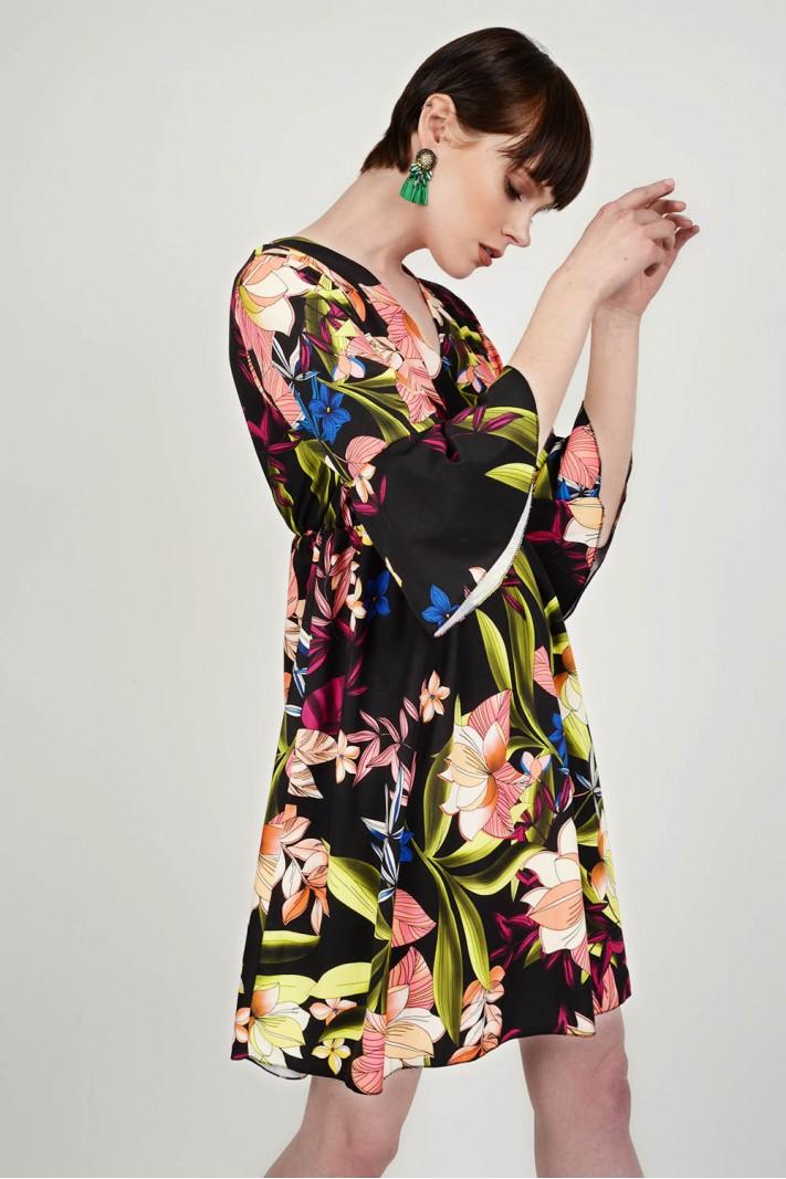 Φόρεμα mini floral d1dec6faaee