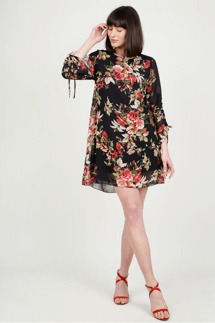 59229f89ddfc Φόρεμα floral σε άλφα γραμμή