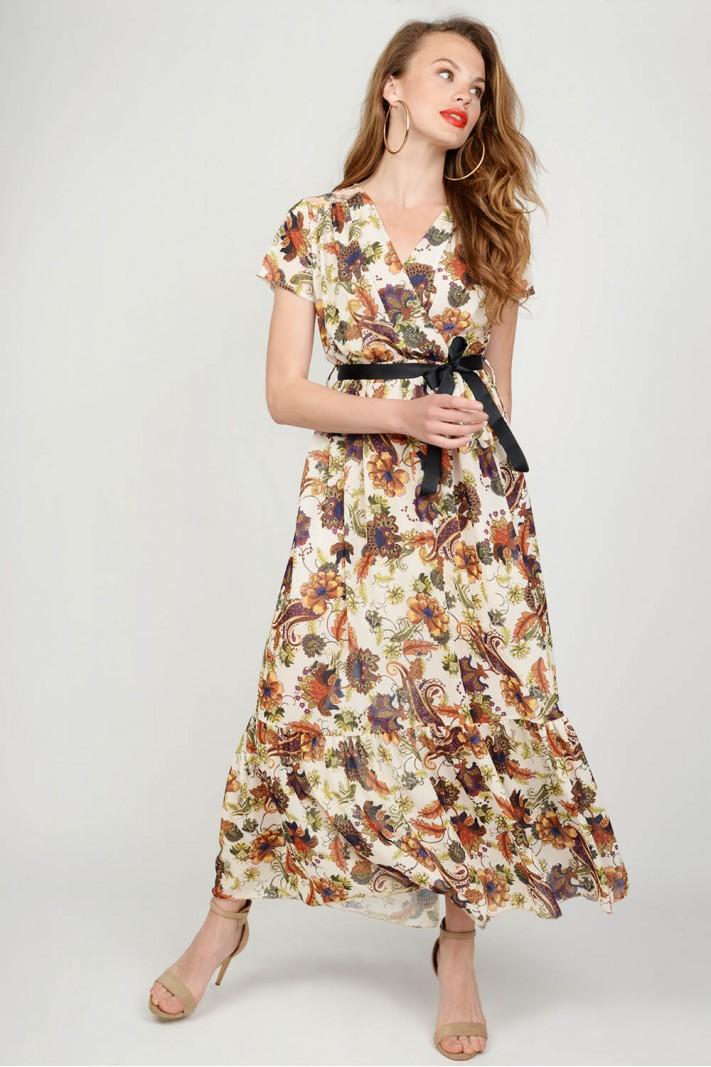 651c276a37b5 Φόρεμα maxi floral Limited Edition