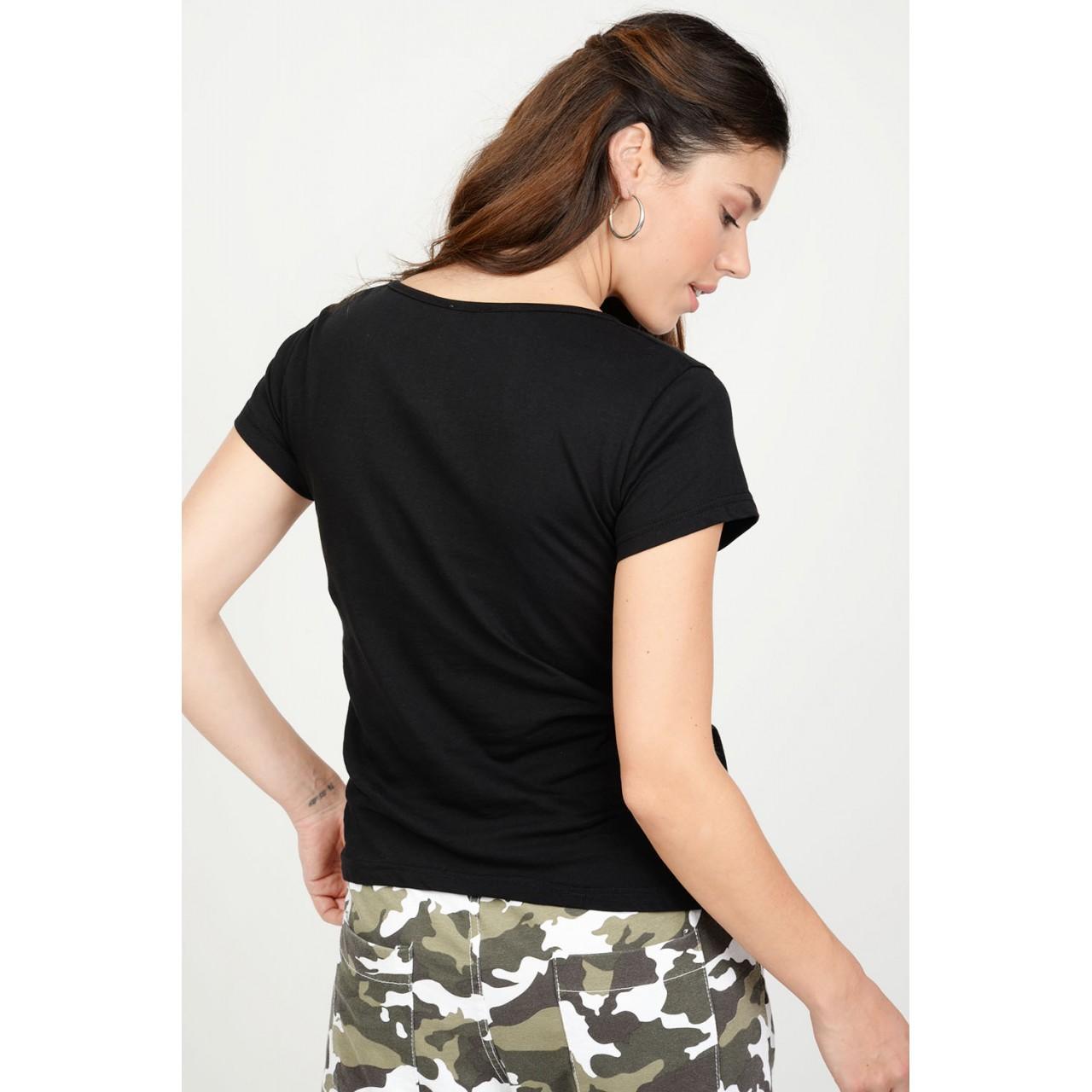 d3c877417fbd T-Shirt με στάμπα strass