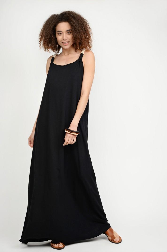 0cdb81449fc8 Φόρεμα μακρύ με τιράντες
