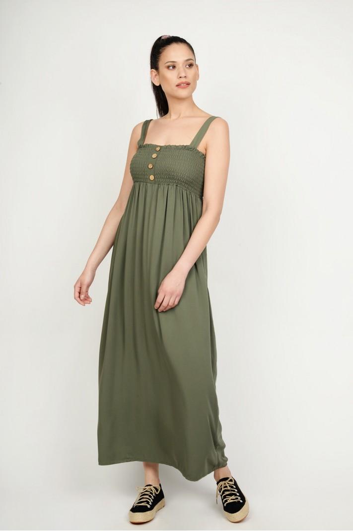 8d28792fcb5e Φόρεμα μακρύ strapless με λάστιχο