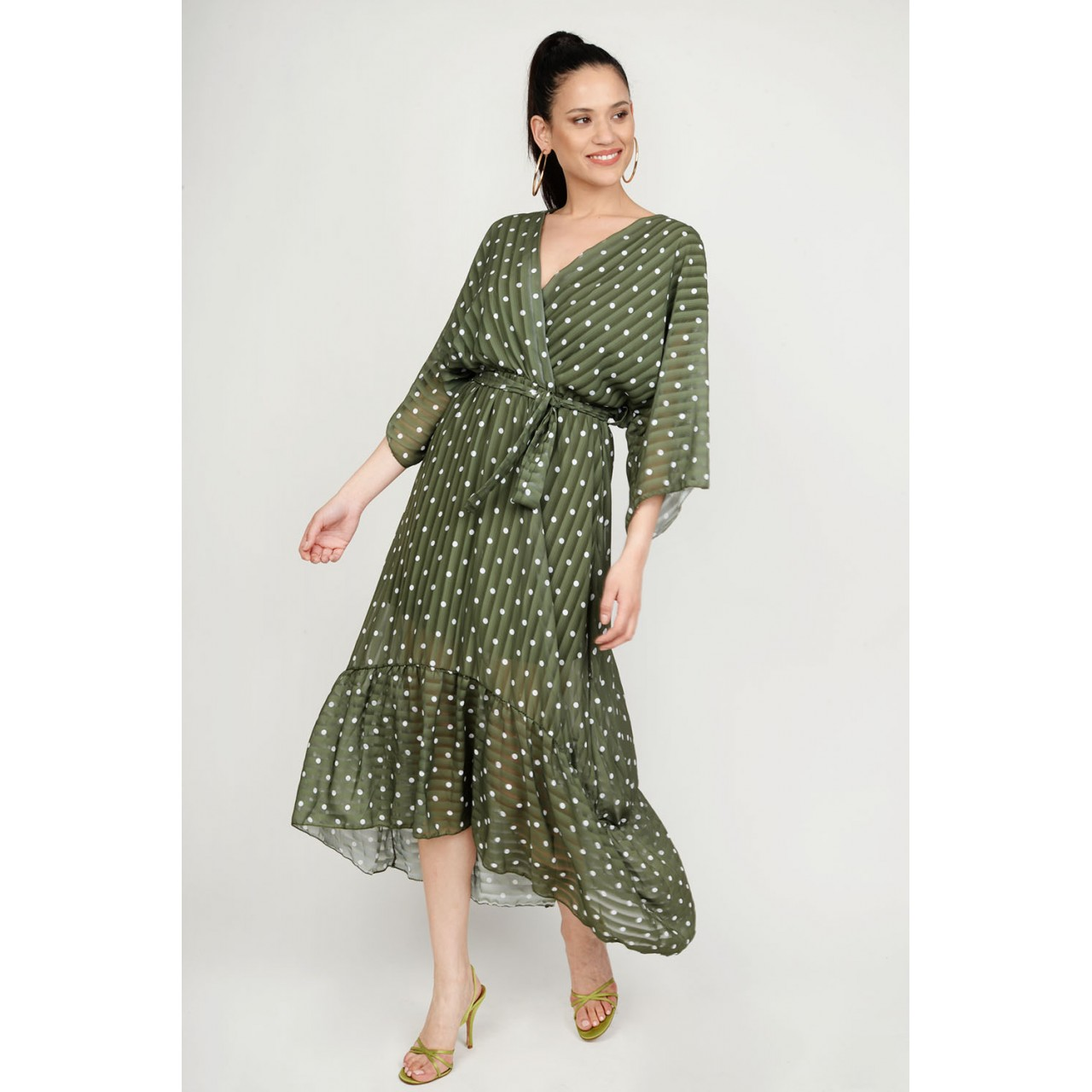 1b720084ec1 ... Φόρεμα ασύμμετρο πουά Limited Edition