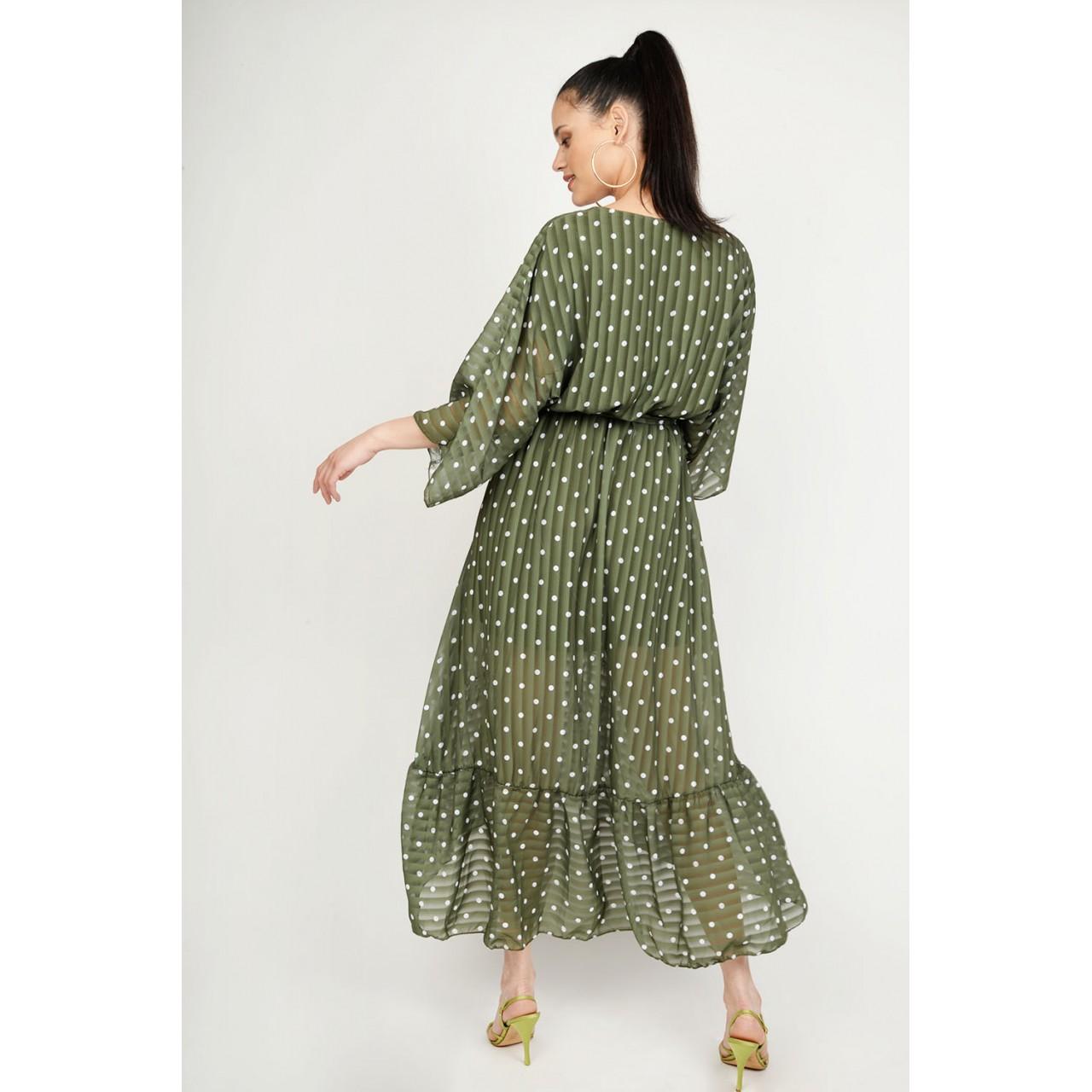 b8e40c20e15 Φόρεμα ασύμμετρο πουά Limited Edition Φόρεμα ασύμμετρο πουά Limited Edition  ...