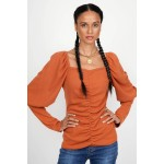 Fleece blouse with ruffles