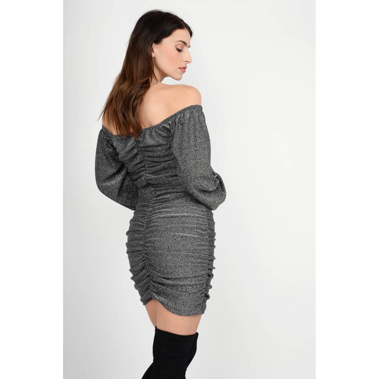 Lurex ruffled dress