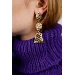 Metal earings with pattern