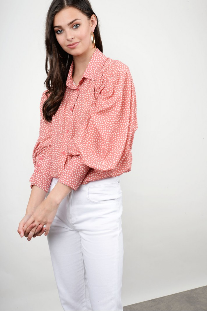 Oversized printed shirt