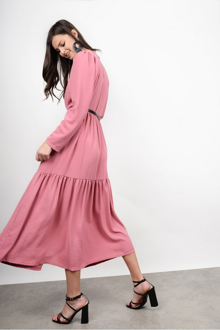 Midi ruffled dress