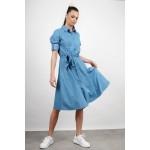 Midi jean dress in a-line