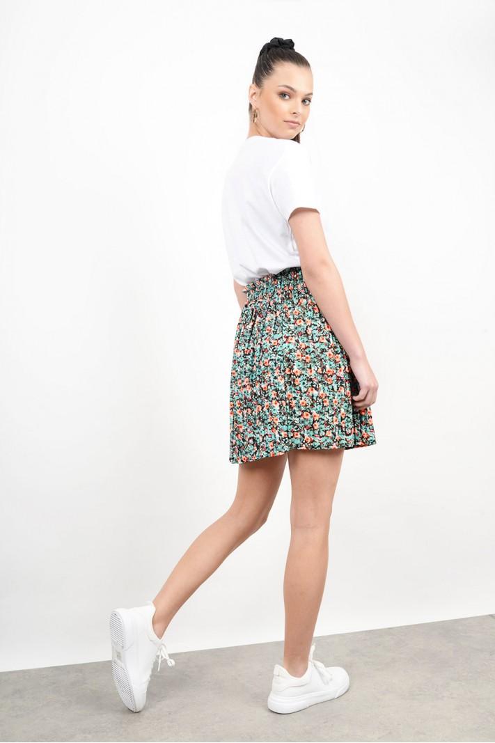 Mini floral skirt