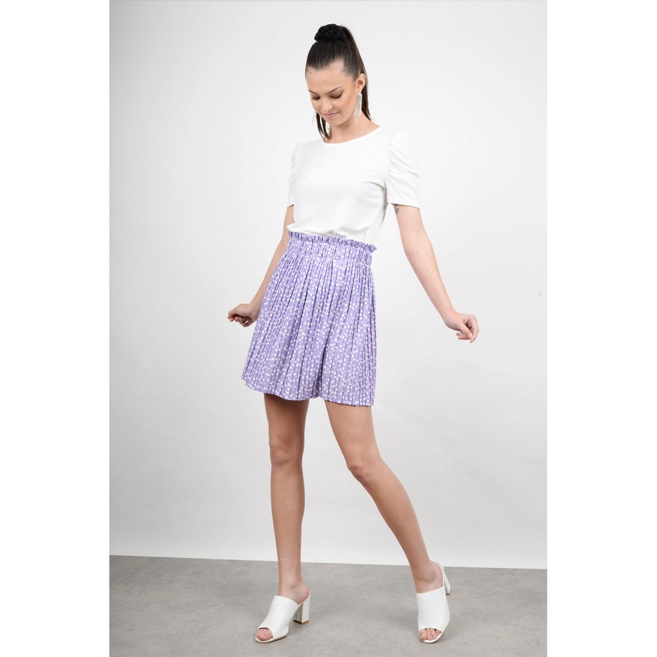 Mini polka dotted skirt