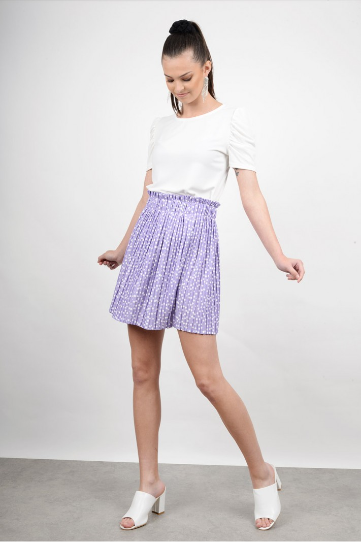 Mini polka dotted skirt