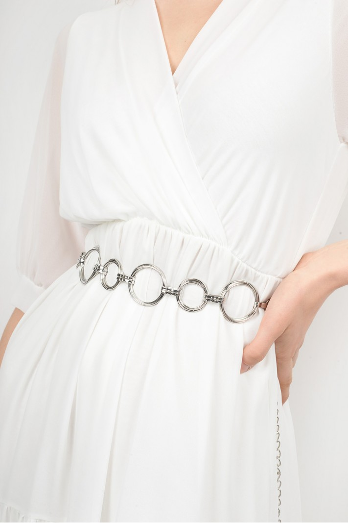 Linked chain belt