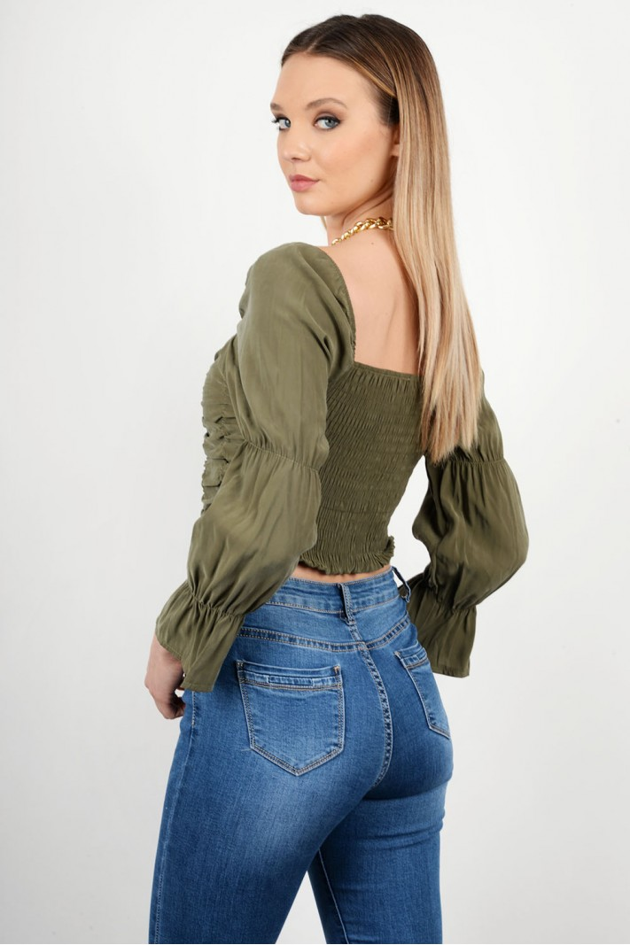 Ruffled elastic top