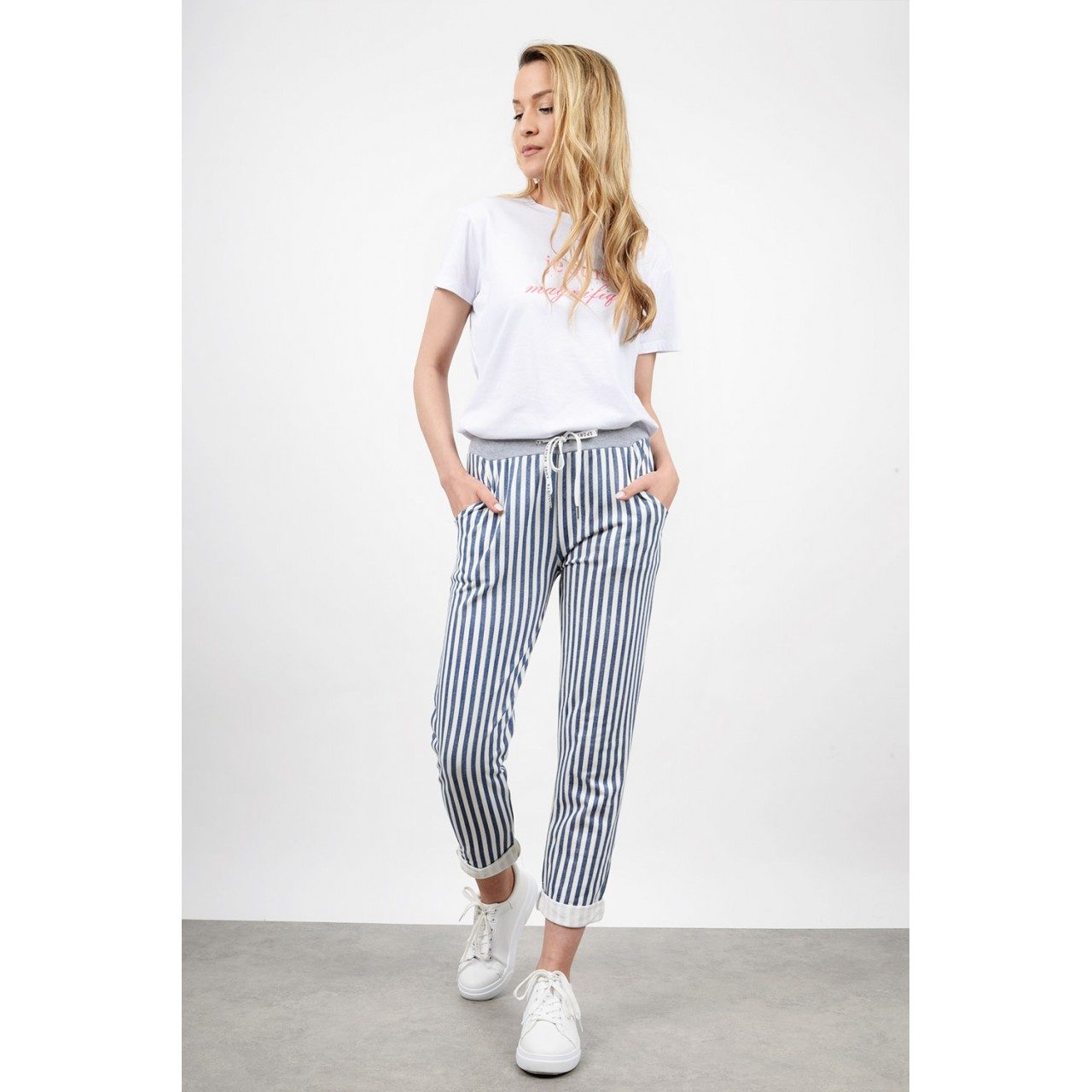 Striped pant with pockets