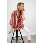 Oversized striped long shirt