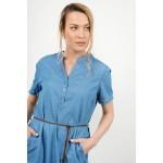 Midi jean dress with pockets