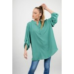 Oversized long shirt with 3/4 sleeves