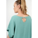 Oversized blouse with opening