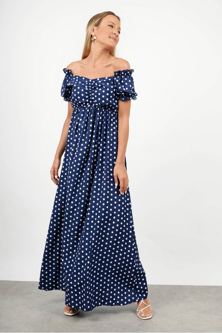 Maxi polka dotted dress
