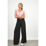 High waist polka dotted pant