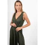 Overall zip culotte with tying