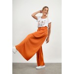 High waist pleated pant