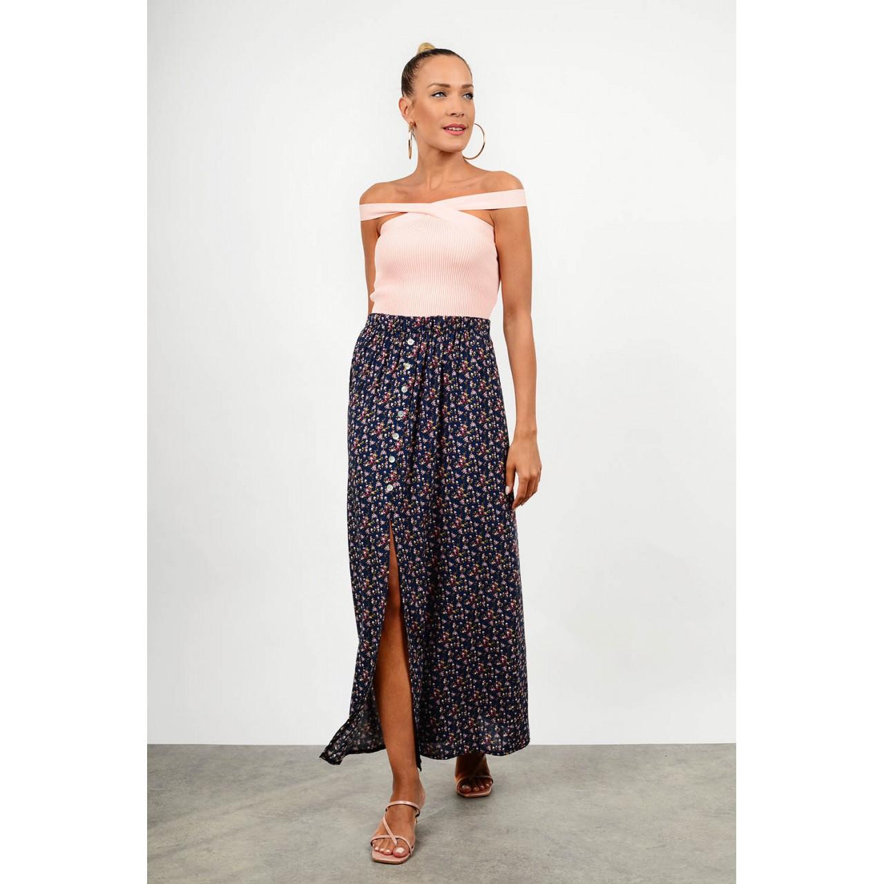 Maxi floral skirt