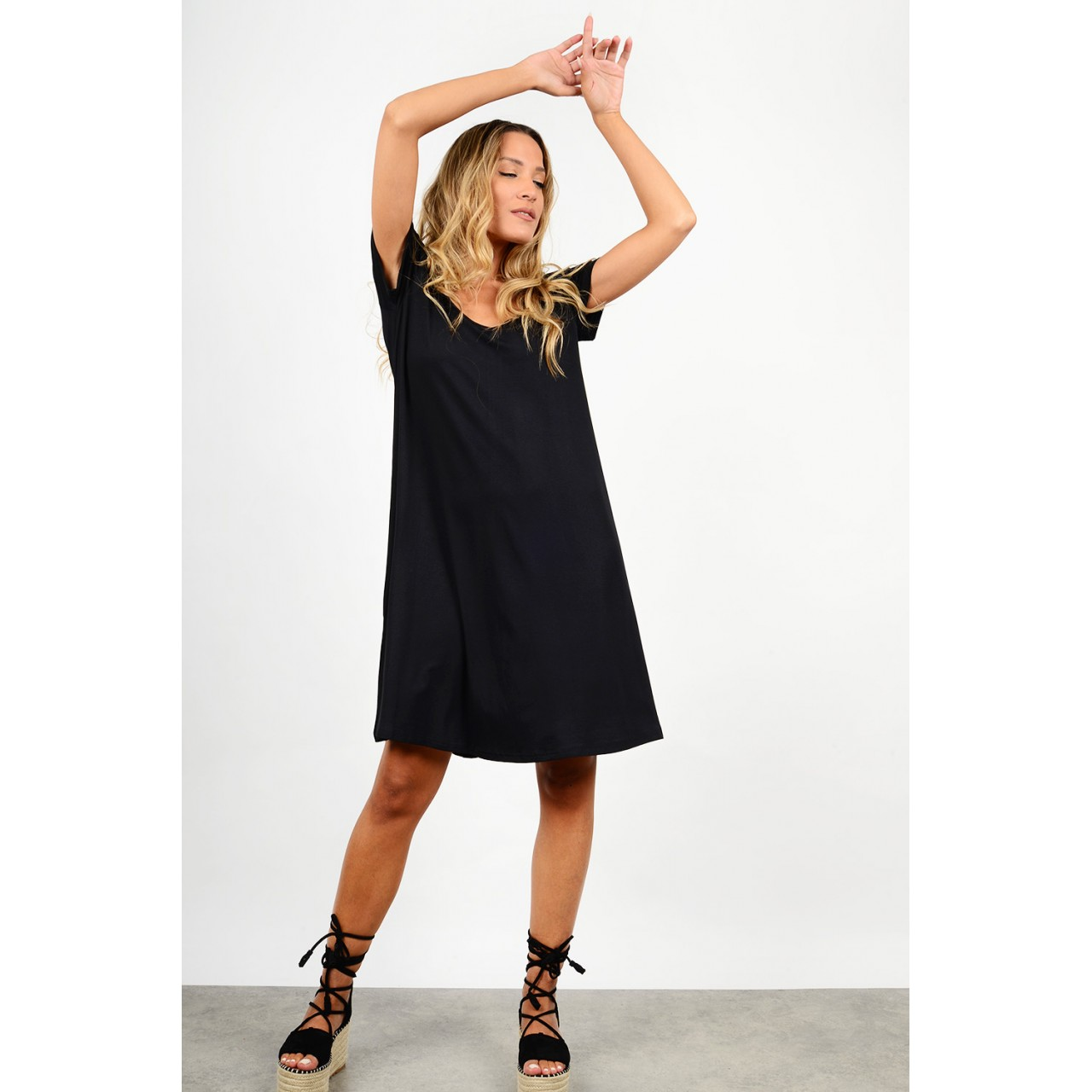 Midi dress in a-line