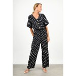 Polka dotted jumpsuit
