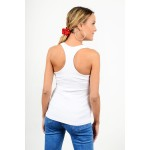 Blouse with athletic back