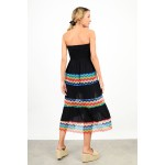 Strapless dress with pattern