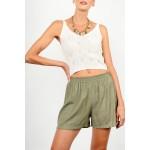 High waist linen shorts