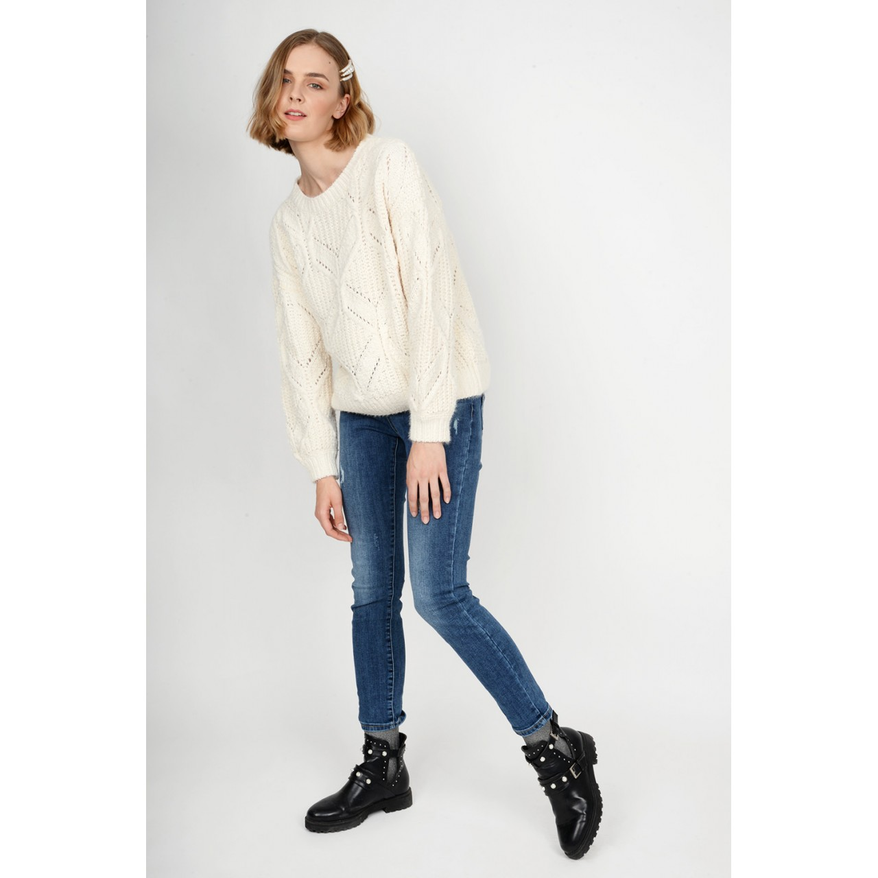 Oversized sweater with braid Limited Edition