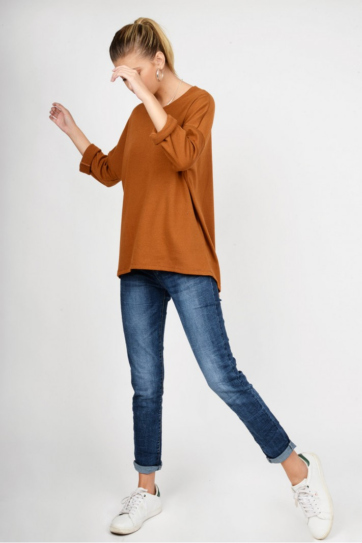 Oversized blouse with sleeves