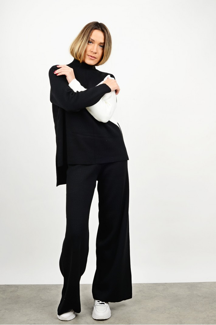 Knitted set blouse with pant