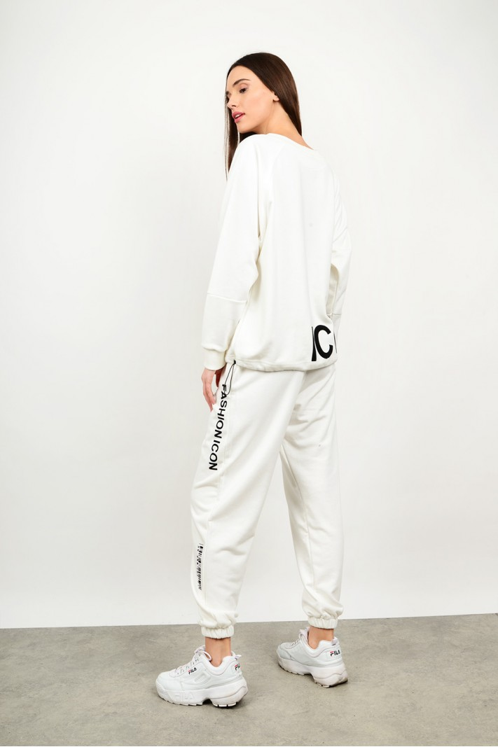 Sweatshirt tracksuit set with blouse wth pant