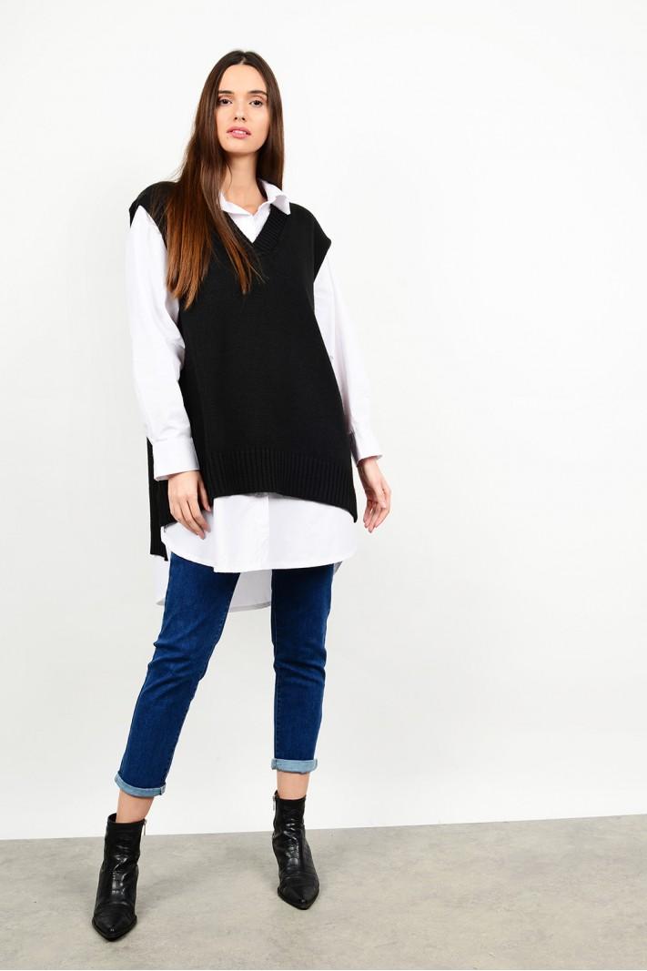 Oversized sleevless knit