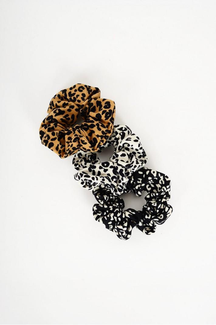 Λαστιχάκια μαλλιών animal print