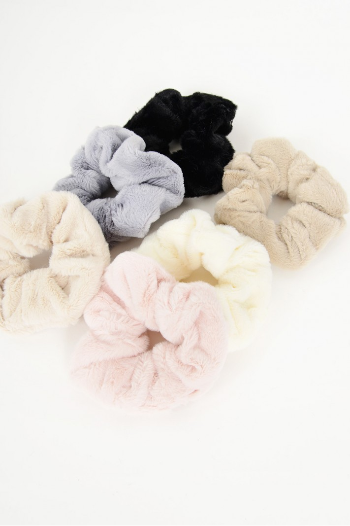 861.Λαστιχάκια μαλλιών fluffy