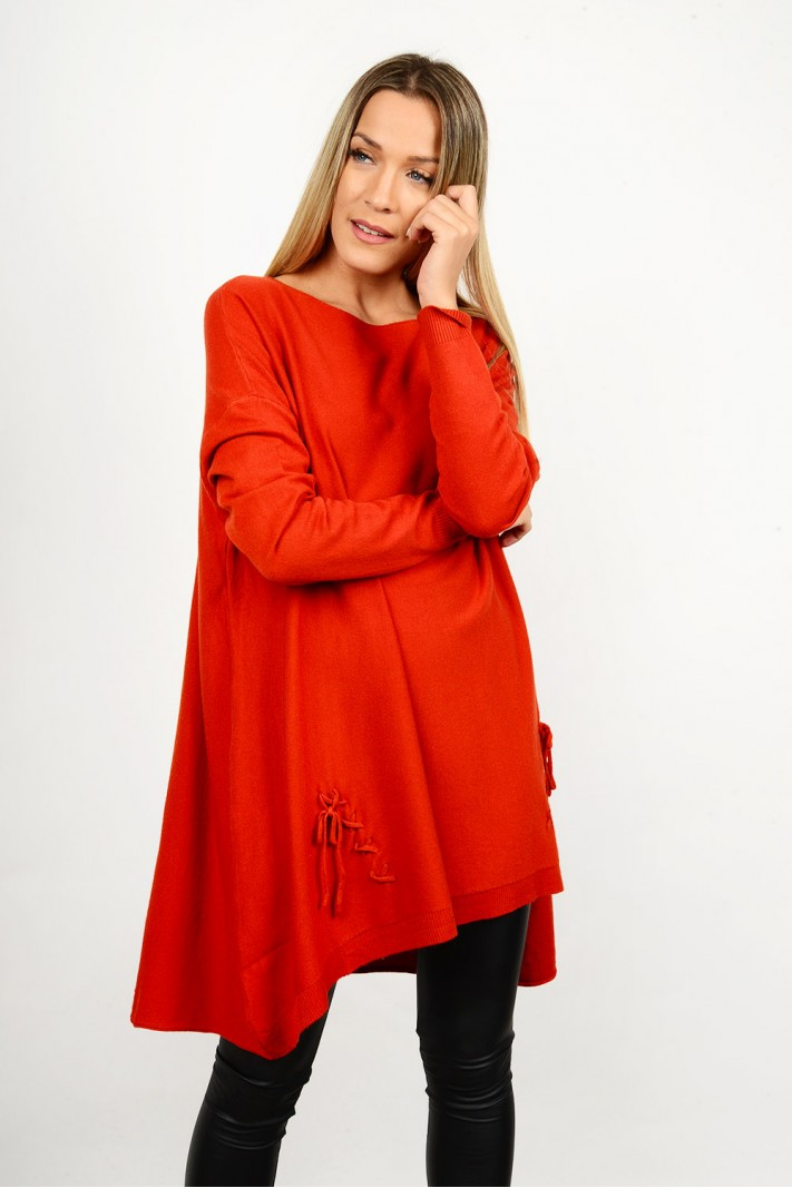 Oversized knitted blouse/dress