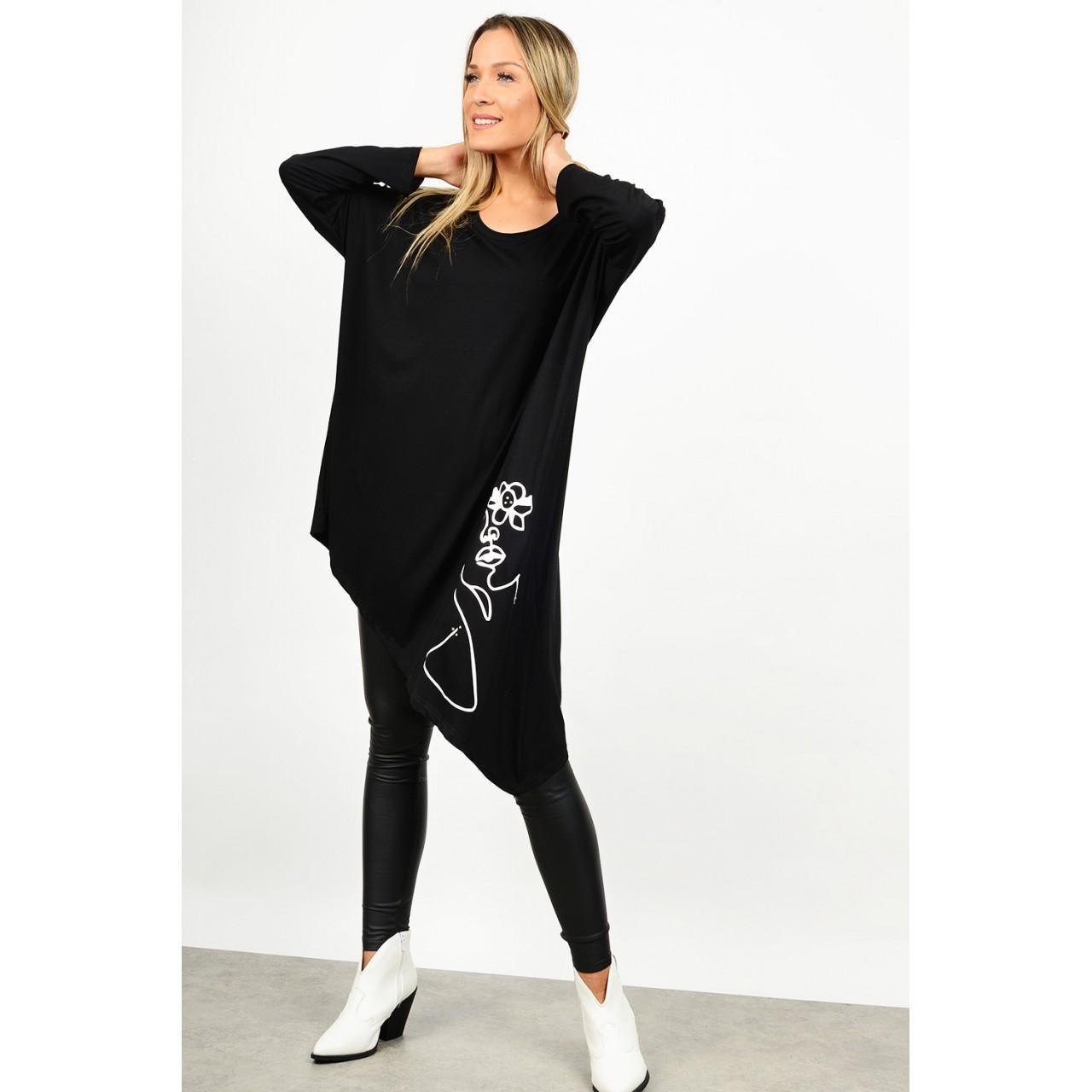 Oversized asymmetrical blouse/dress