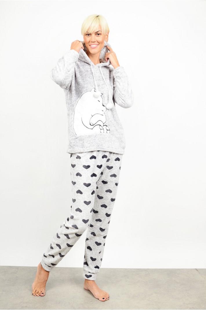 Set pyjamas with hood & pattern