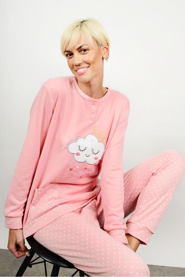 Set pyjamas with pattern & pockets