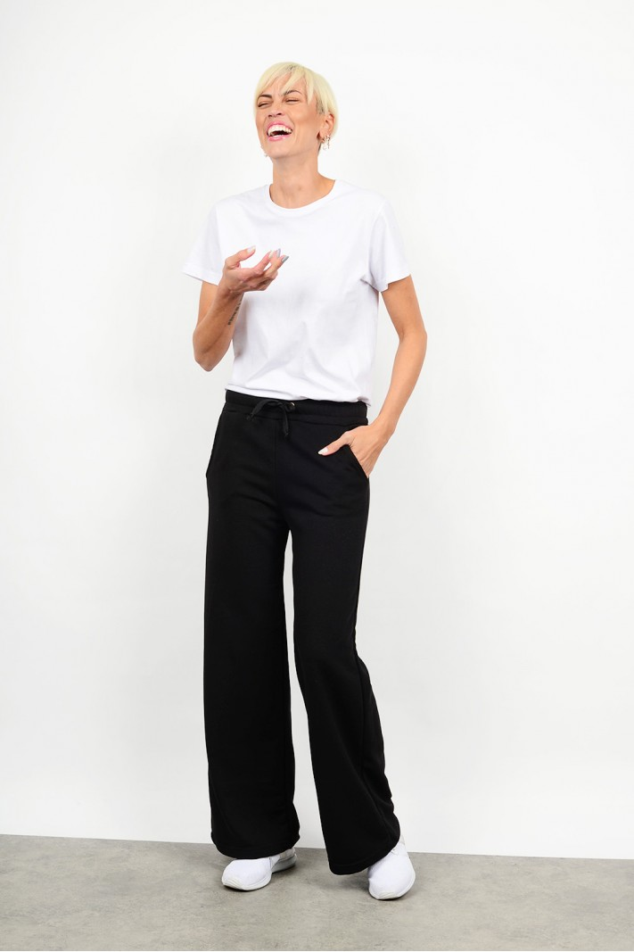 Tracksuit wide pant with pockets